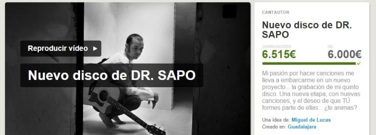 Crowdfunding de Dr Sapo conseguido